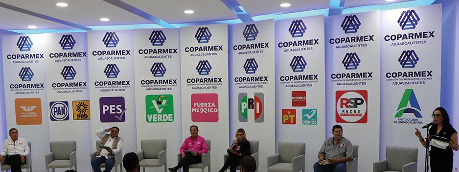 COPARMEX, DEBATE DE LOS CANDIDATOS A PRESIDENTE MUNICIPAL